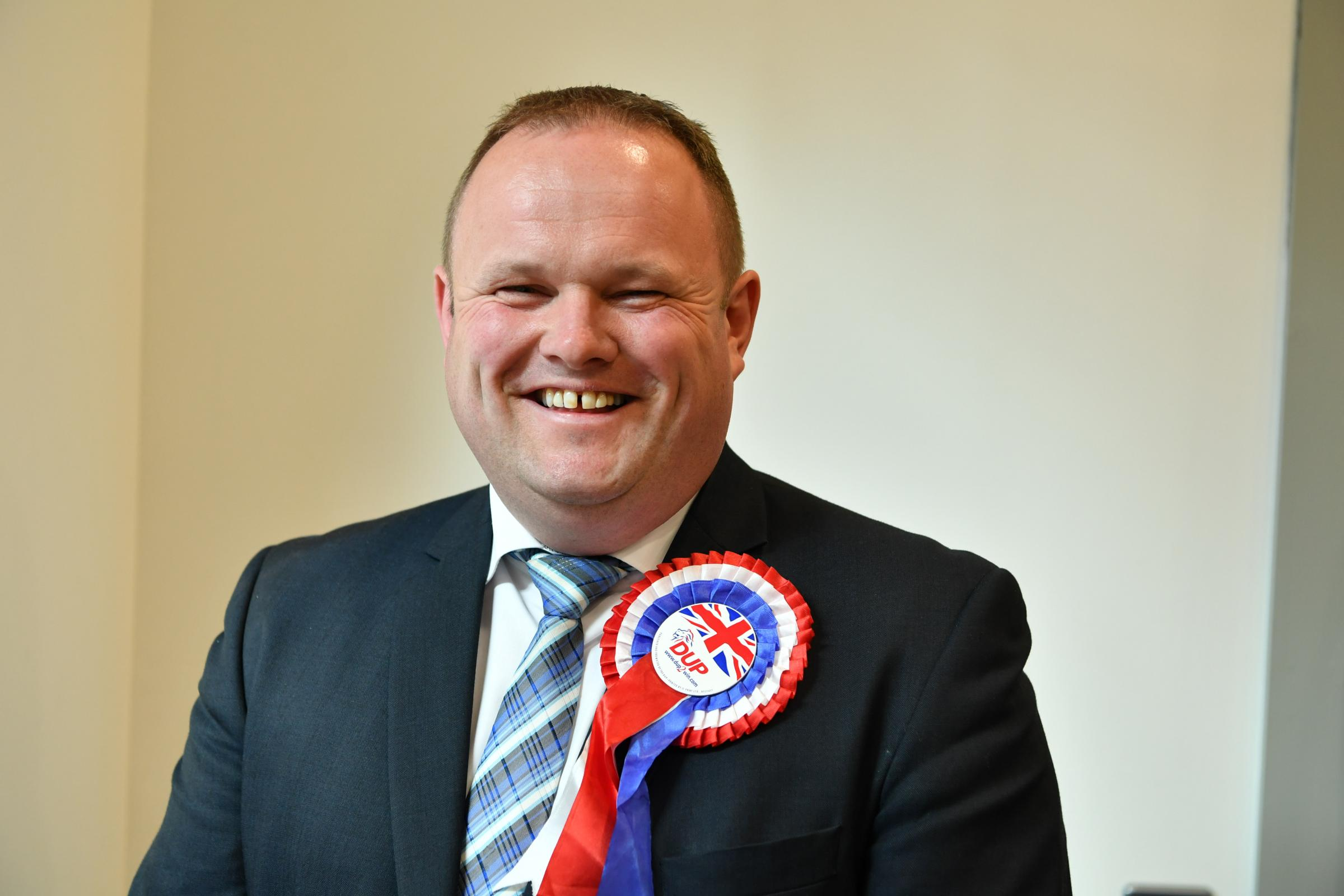 DUP Councillor Keith Elliott who was returned in Enniskillen.