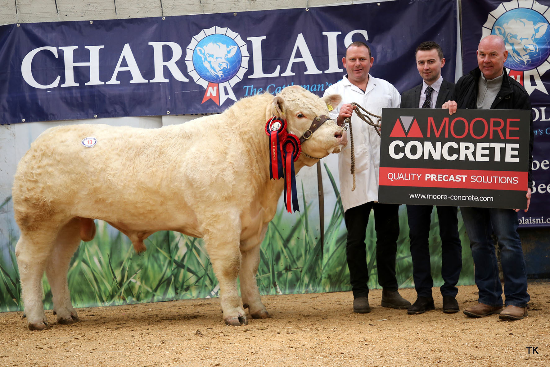 Selling at 3,000gns was the supreme and male champion Fymore Olaf bred and exhibited by Sean McCaughey, Augher, Co Tyrone.