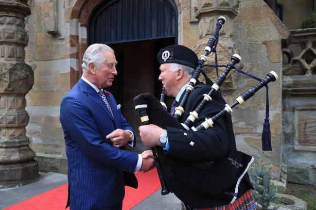 The Prince of Wales during his visit to Brownlow House, Lurgan