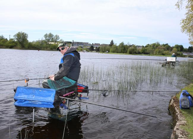 Terry Jackson, Grimbsey, taking part in the Classic Fishing Competition in Enniskillen.