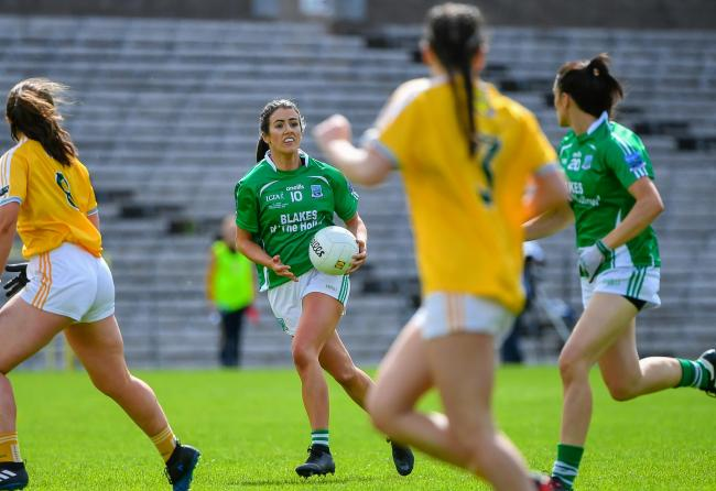 Fermanagh captain Joanne Doonan in action against Antrim in the league final.